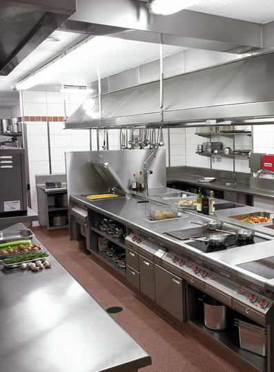 commercial kitchen that has had pest control